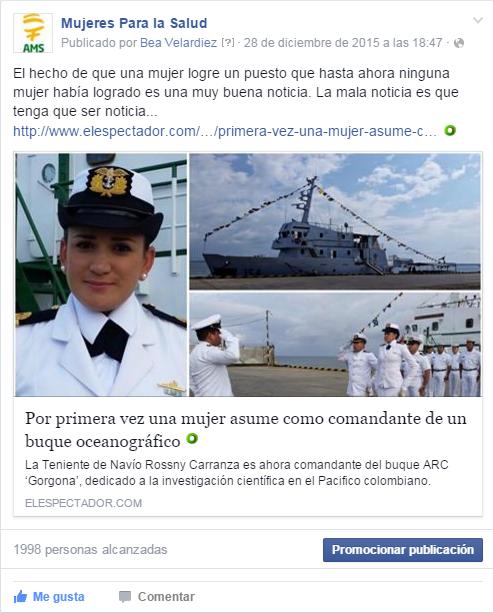 Primera mujer comandante de un buque oceanográfico