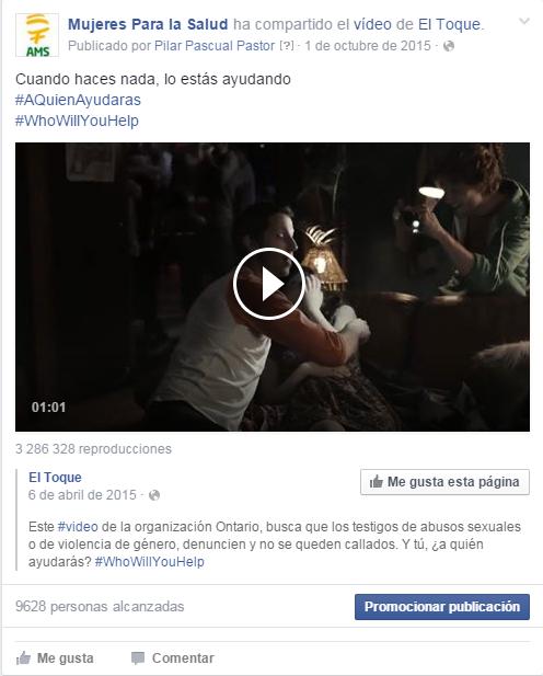 Publicación vídeo