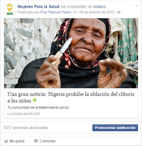 Nigeria prohíbe ablación
