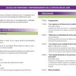Programa Jornada La salud diferencial de las mujeres